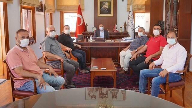 Ayvalık Organize Gıda Sanayicileri Derneği Yönetimi Başkan Ergin'i Ziyaret Etti